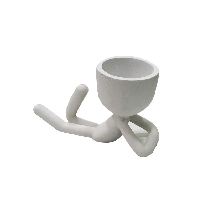 Enfeite Boneco 10cm de Resina Branco DEI-01 - Az Design