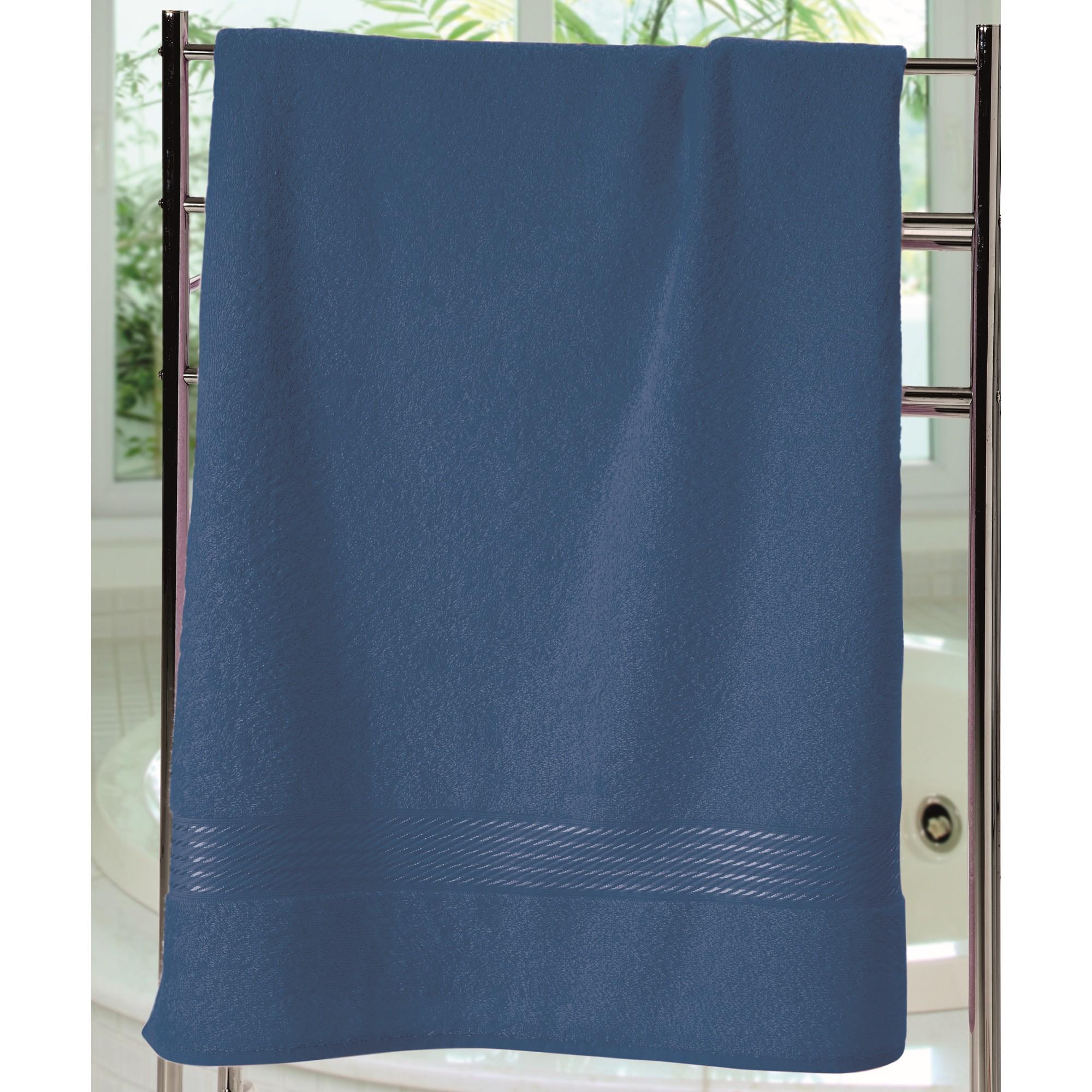 Toalha de Banho Felpudo Prisma Liso 70x140cm Azul - Dohler