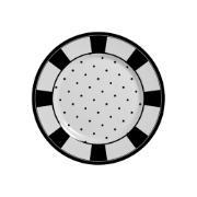 Prato de Sobremesa em Cerâmica Petit Pois Preto 19cm - Alleanza