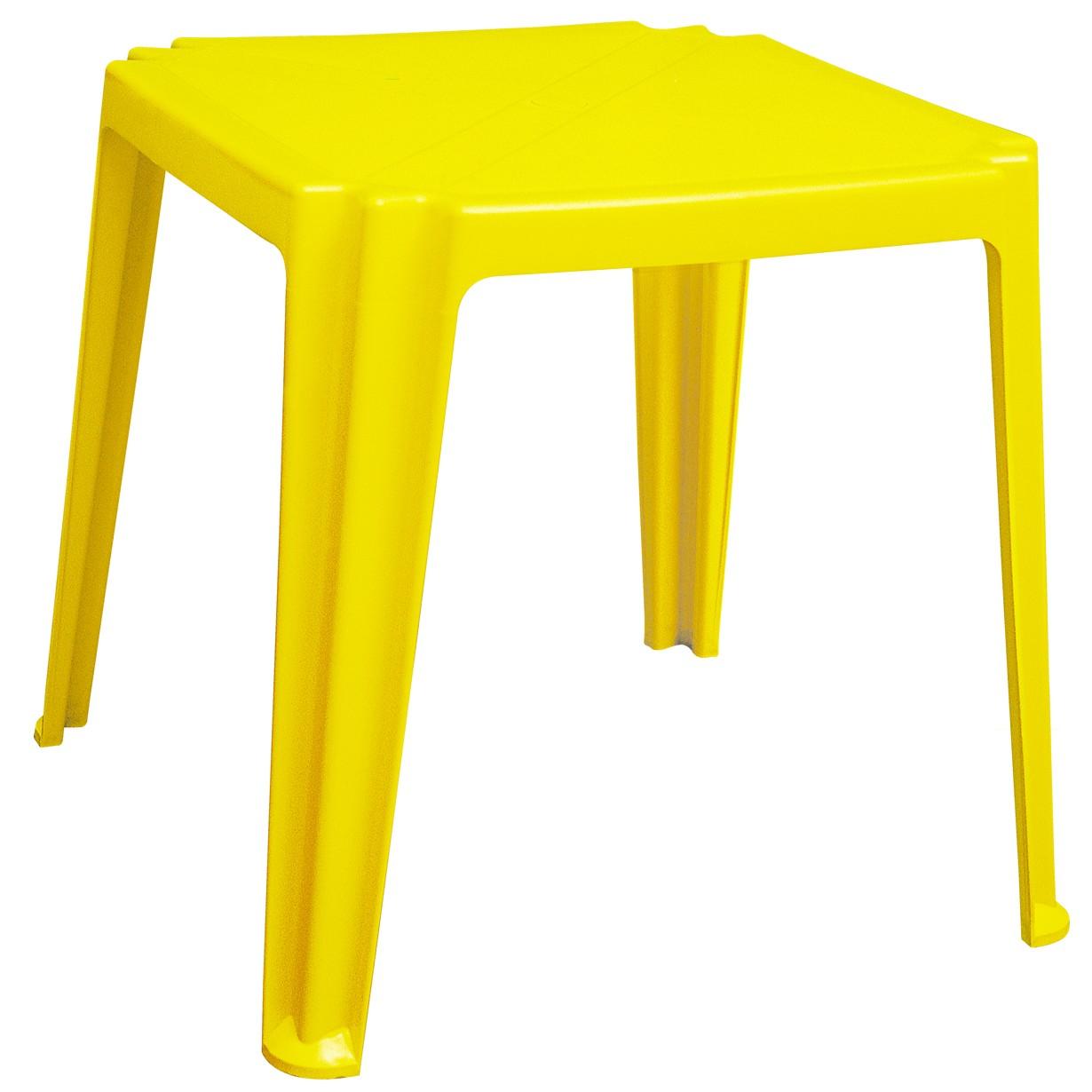 Mesa Quadrada de Polipropileno Basic Amarela - Tramontina