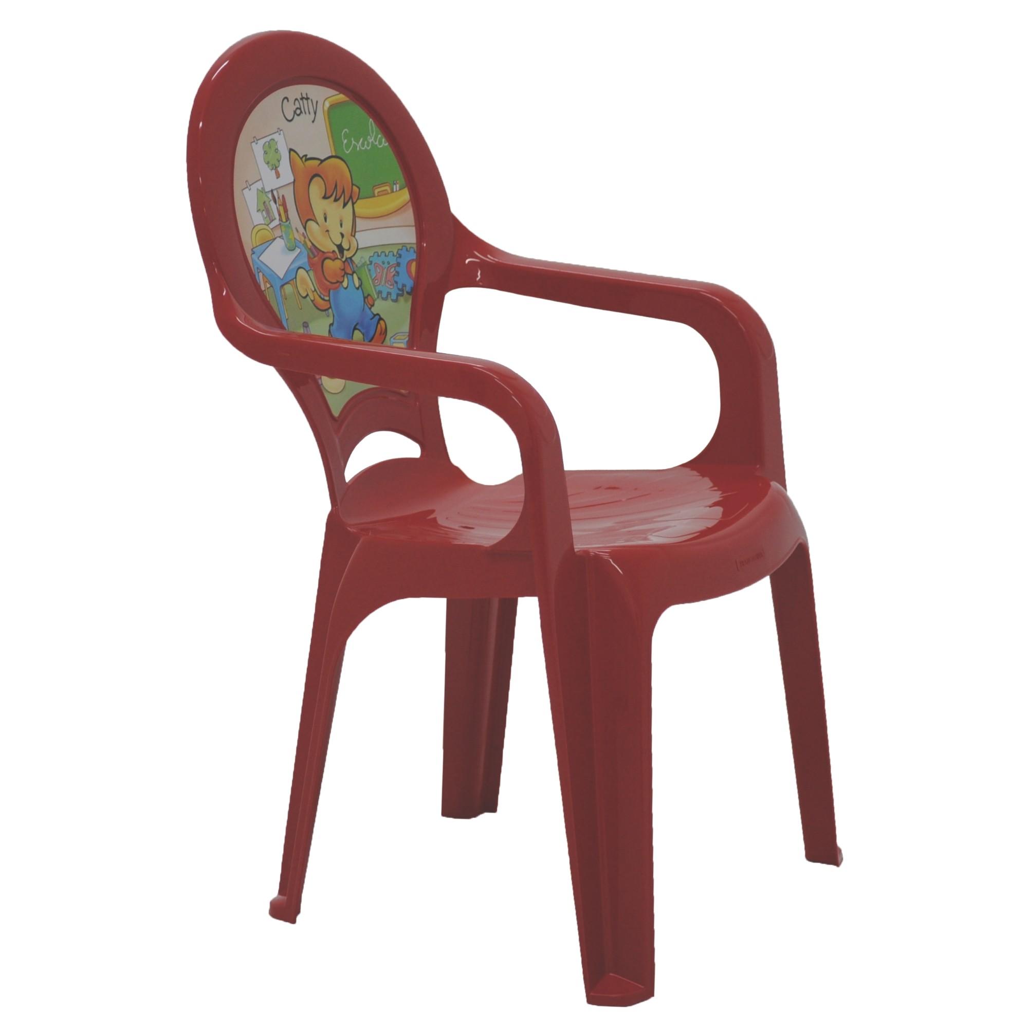 Poltrona de Polipropileno Infantil Vermelha - 92263040 - Tramontina