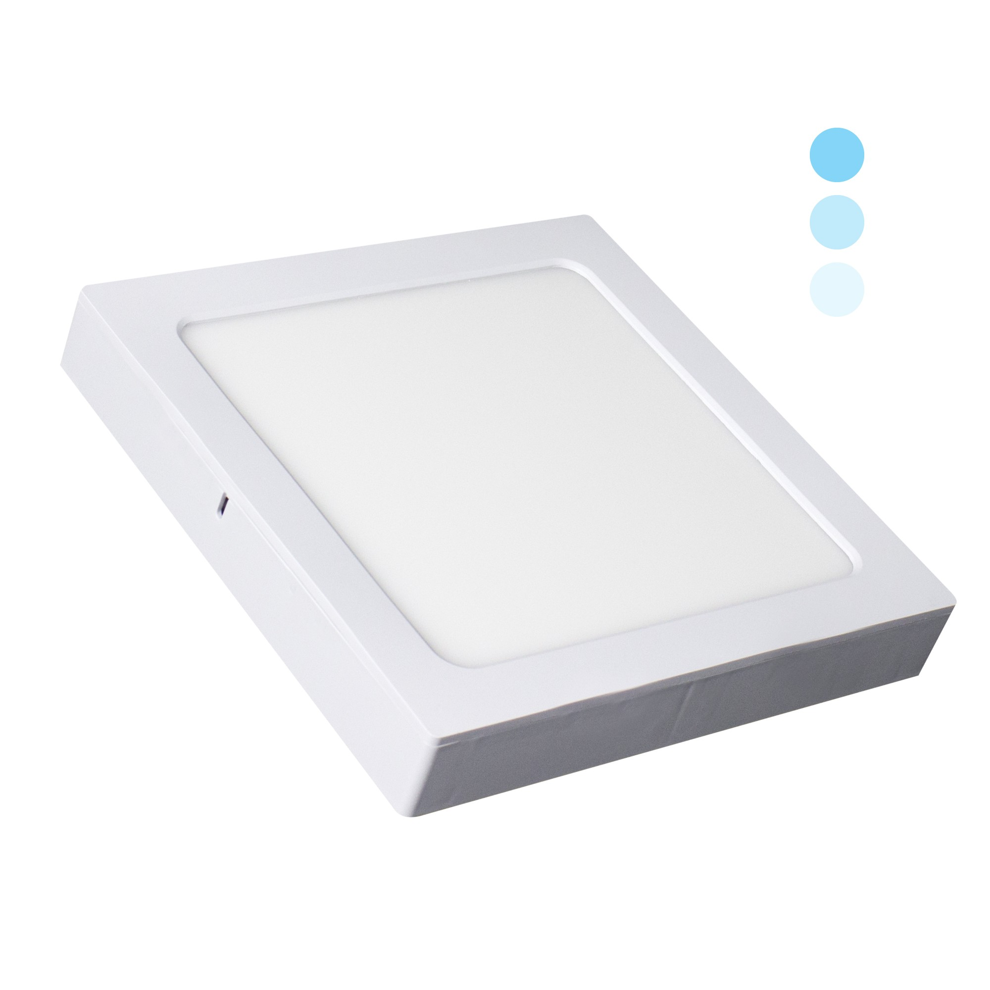Painel LED Quadrado 16W Luz Branca Tripla Intensidade 1200lm - Ecoforce