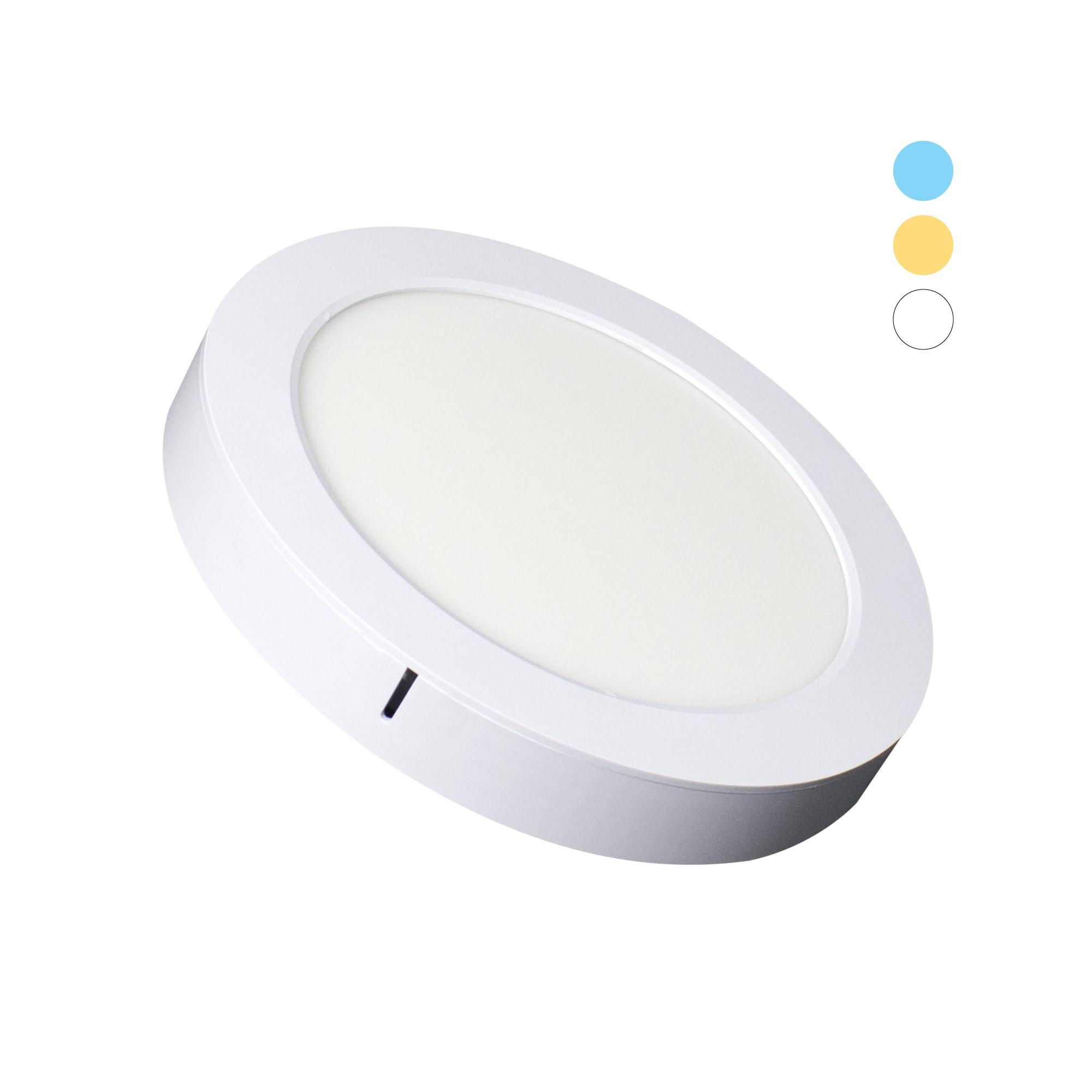 Painel LED Redondo 16W Tripla Tonalidade 1200lm - Ecoforce