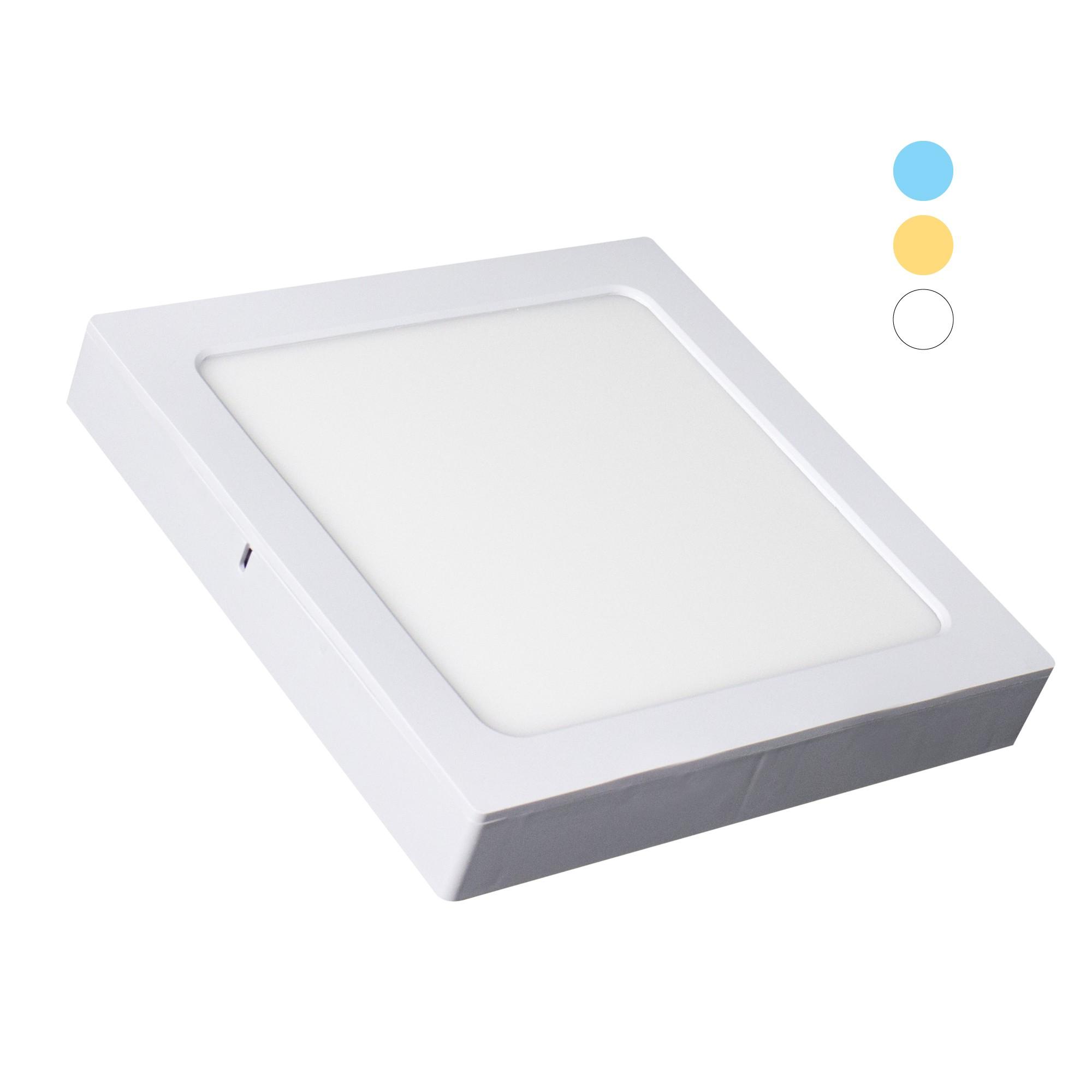 Painel LED Quadrado 16W Tripla Tonalidade 1200lm - Ecoforce