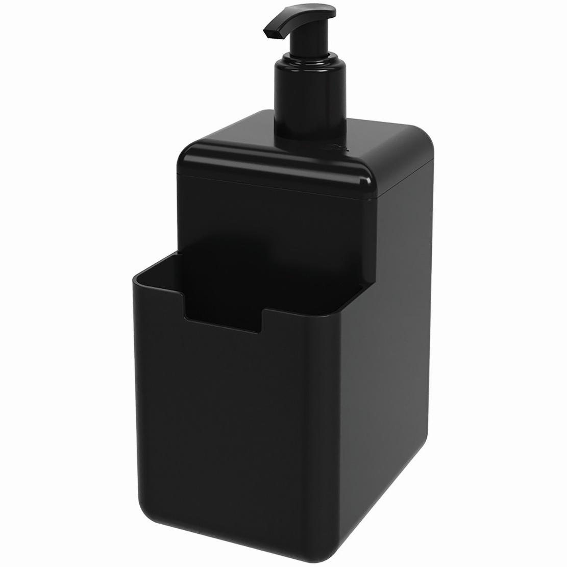Dispenser com Suporte para Esponja Plastico 500ml Preto 170080008 - Coza