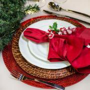 Guardanapo de Tecido Gourmet 50x50 cm Vermelho - Karsten