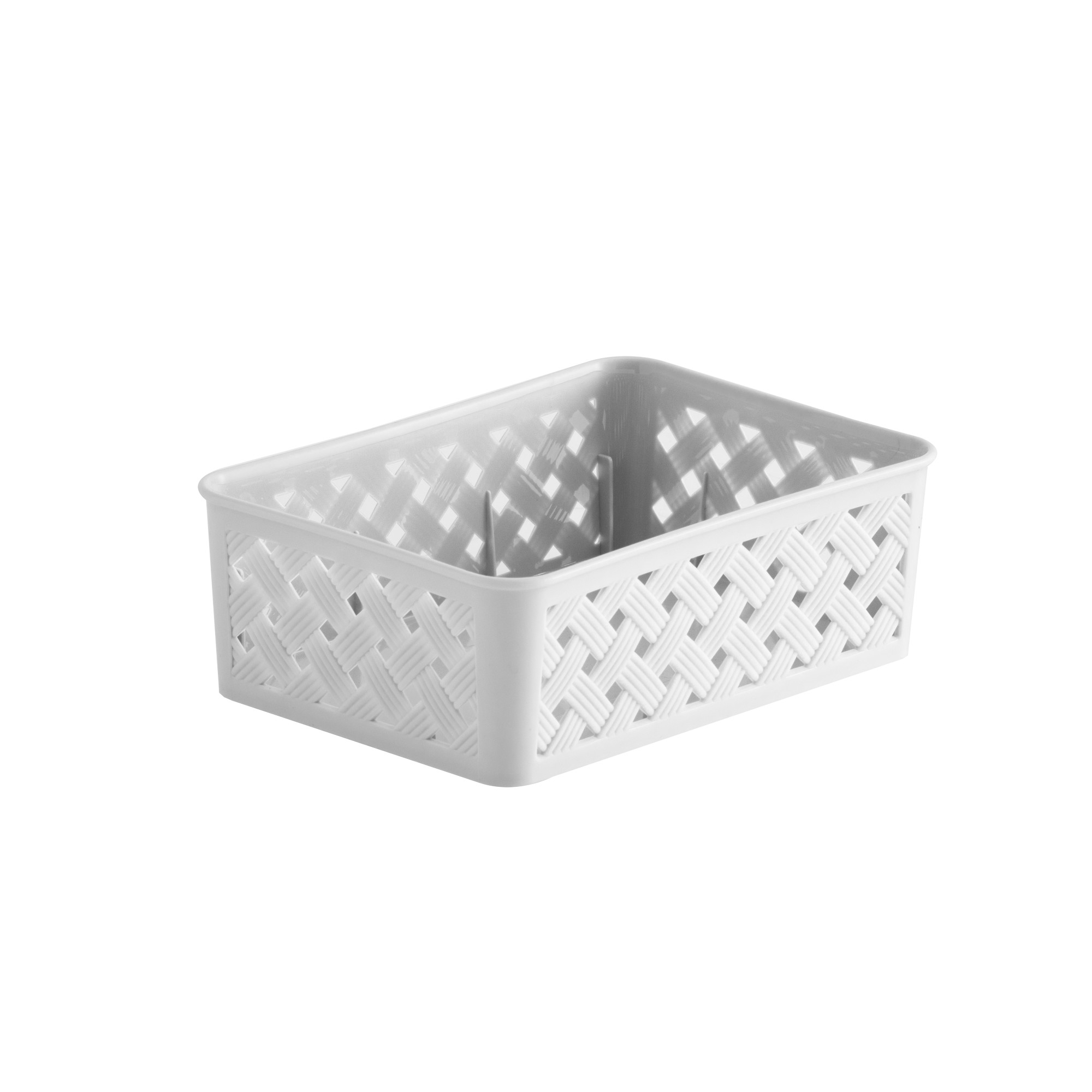 Cesta Organizadora de Plastico 13x19 cm Branca - Paramount