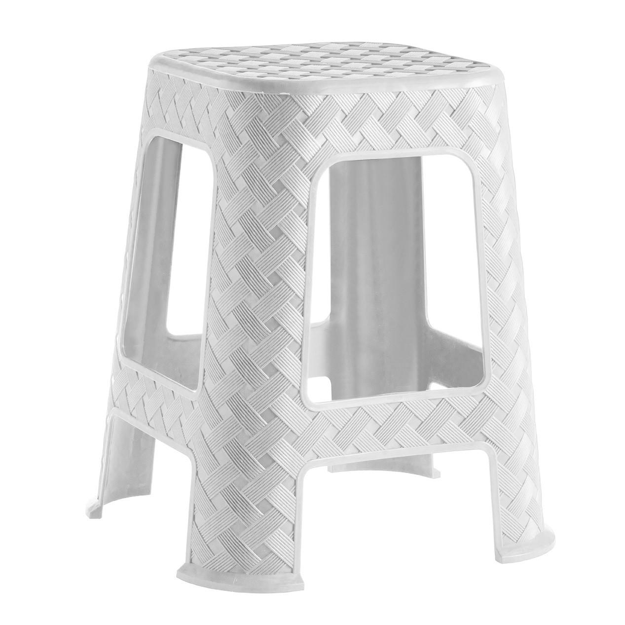 Banqueta de Plastico 45cm Branca - Paramount