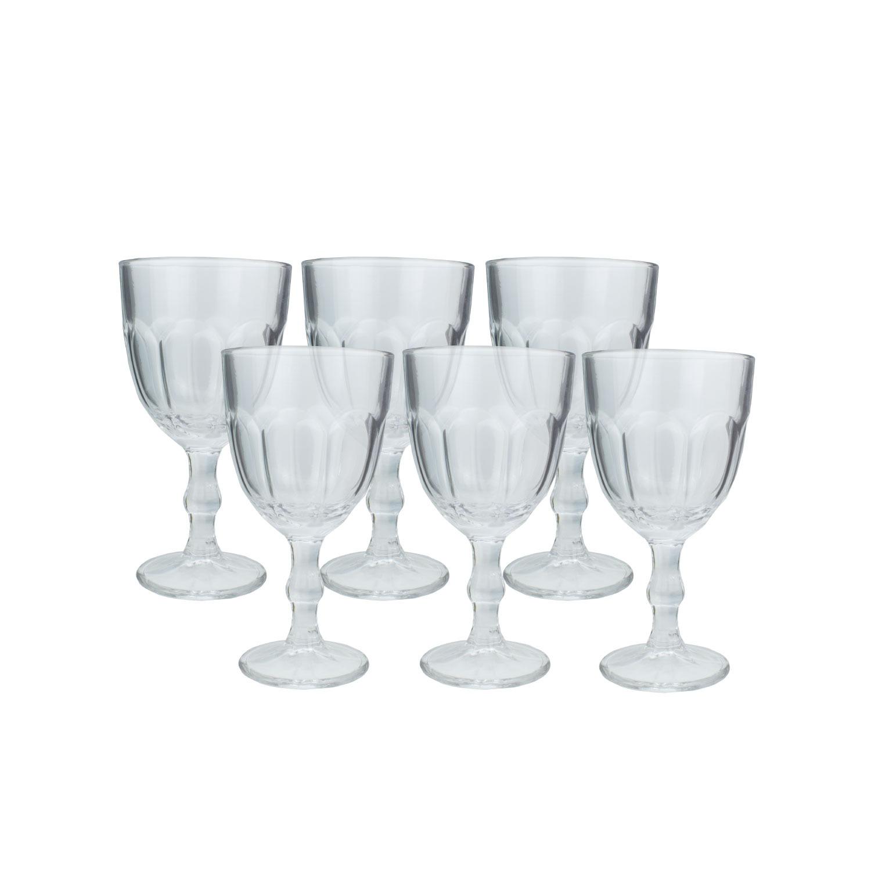 Jogo de Tacas de Vidro para Agua 6 Pecas 300ml TCVI060 - Casa Ambiente