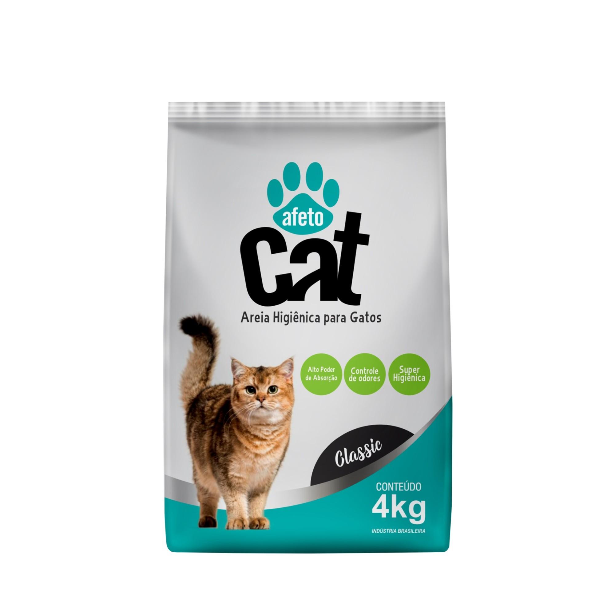 Areia Higienica para Gatos 4 Kg Classic - Afeto Dog