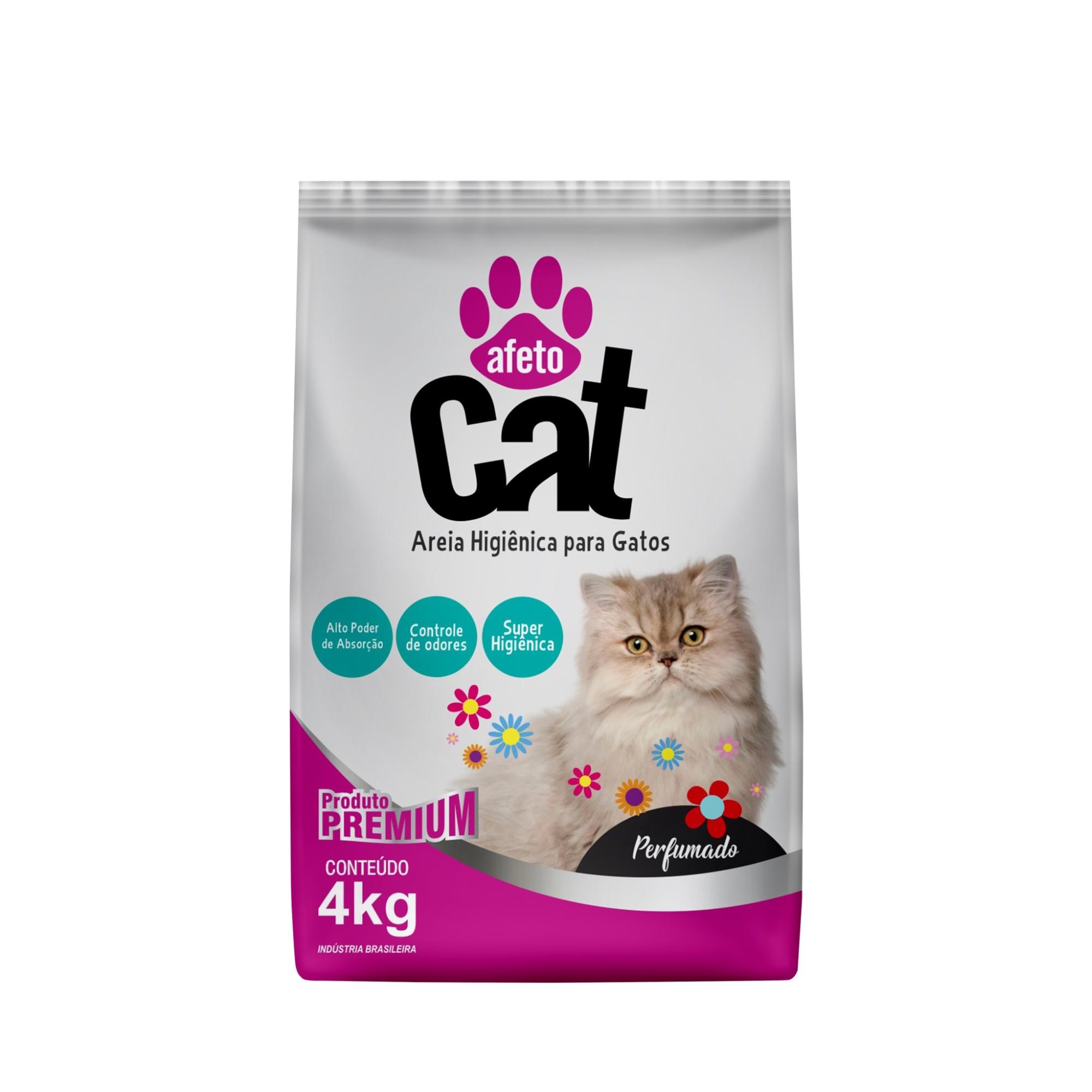Areia Higienica para Gatos 4 Kg Perfumada - Afeto Dog