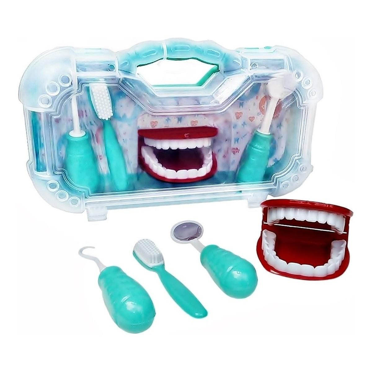 Brinquedo Kit Dentista com Maleta - Paki Toys