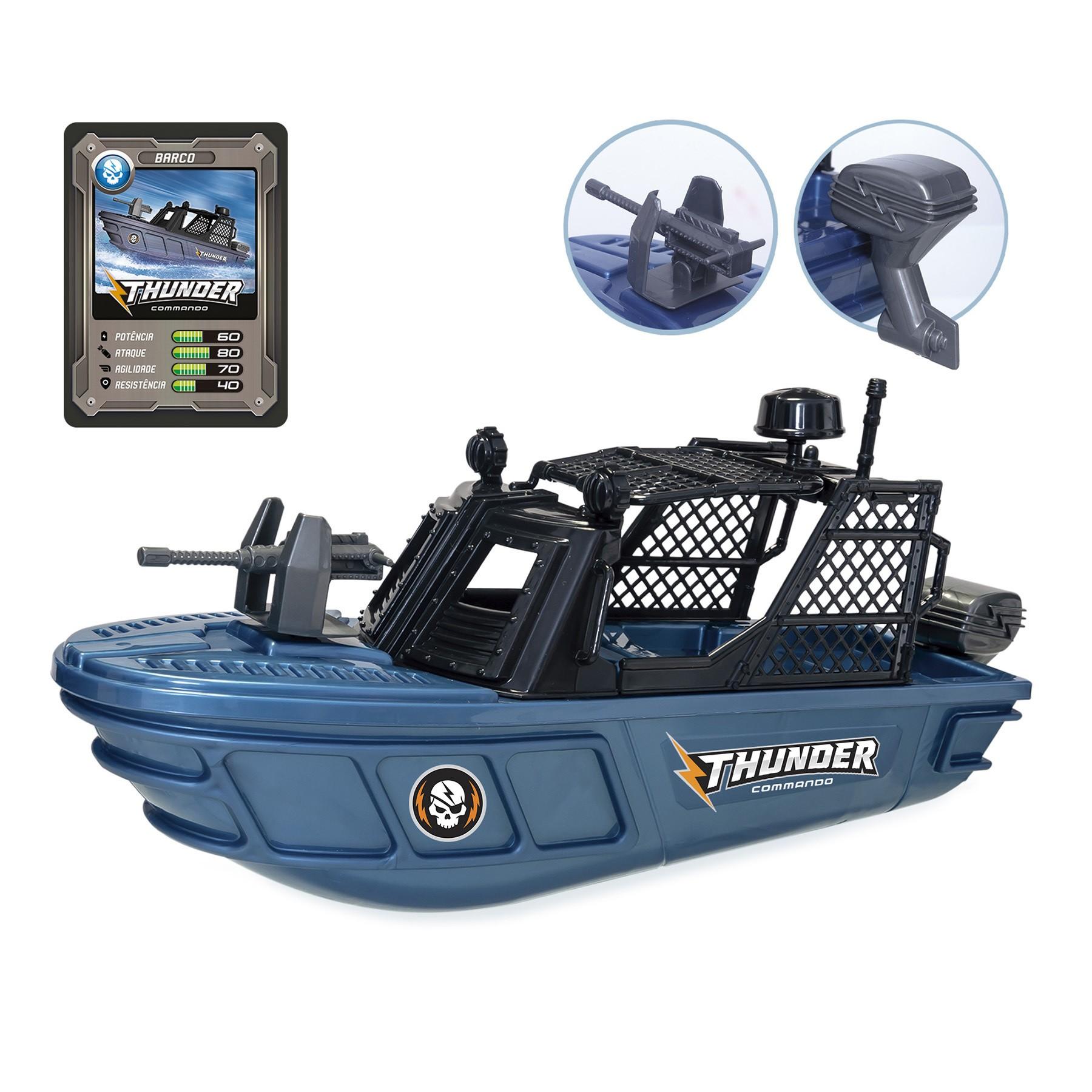 Brinquedo Barco Thunder Comando - Usual Brinquedos