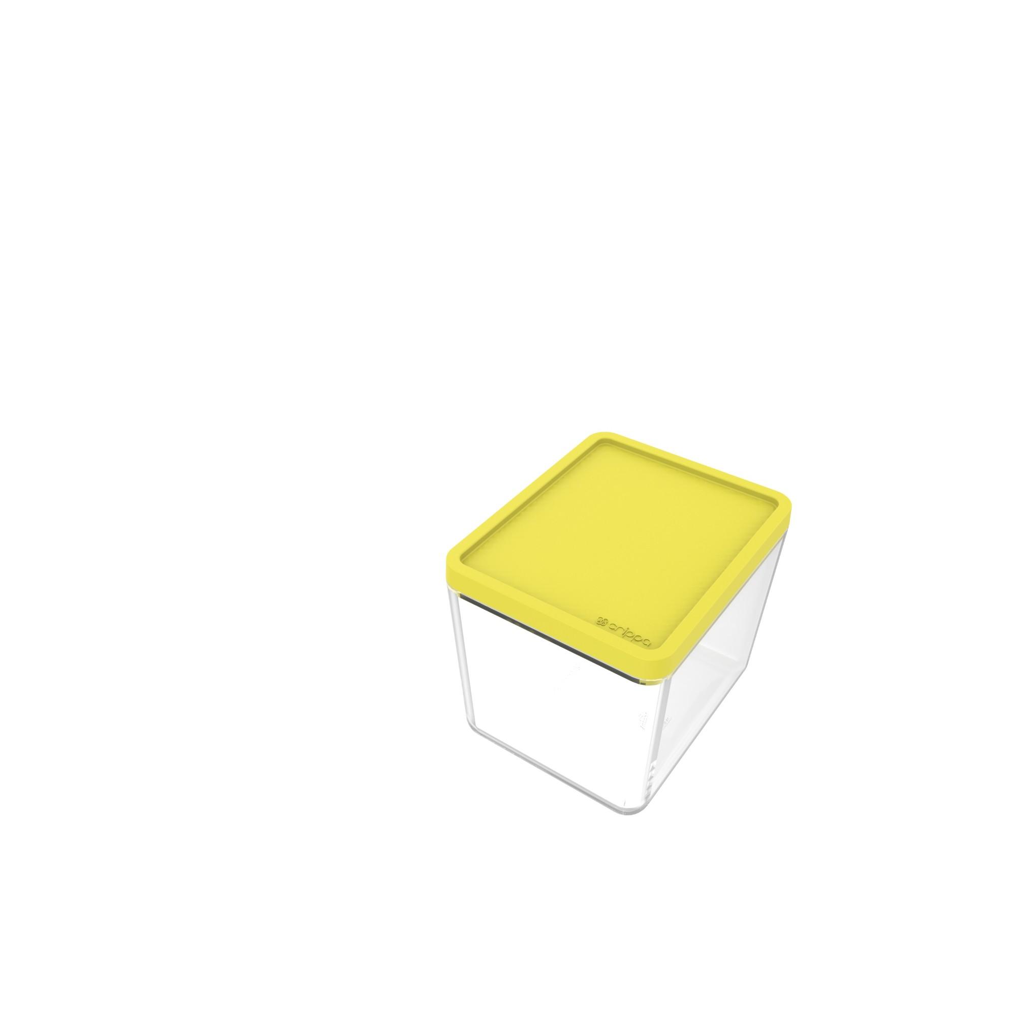 Pote Plastico Hermetico Retangular 350ml Amarelo - Crippa