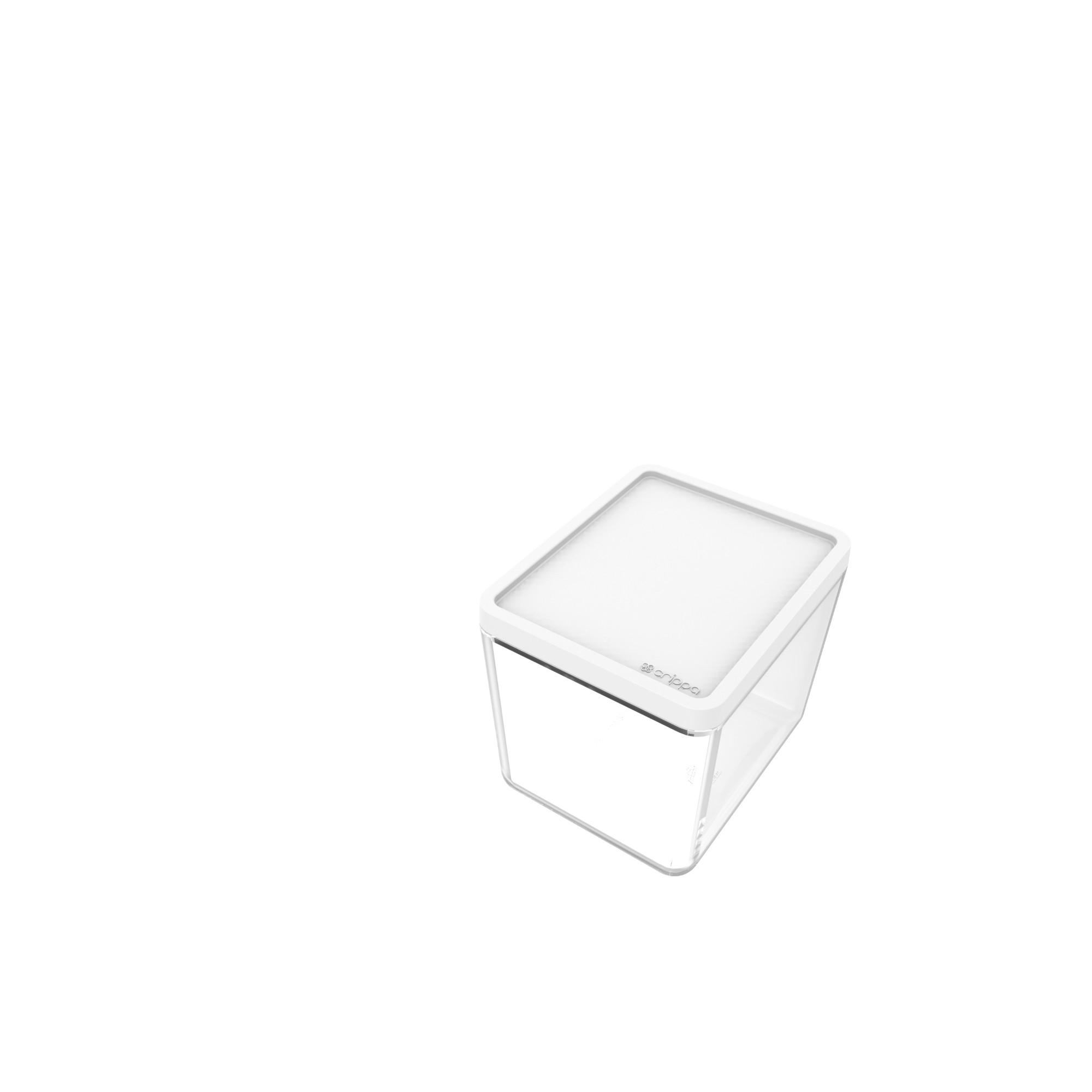 Pote Plastico Hermetico Retangular 350ml Branco - Crippa