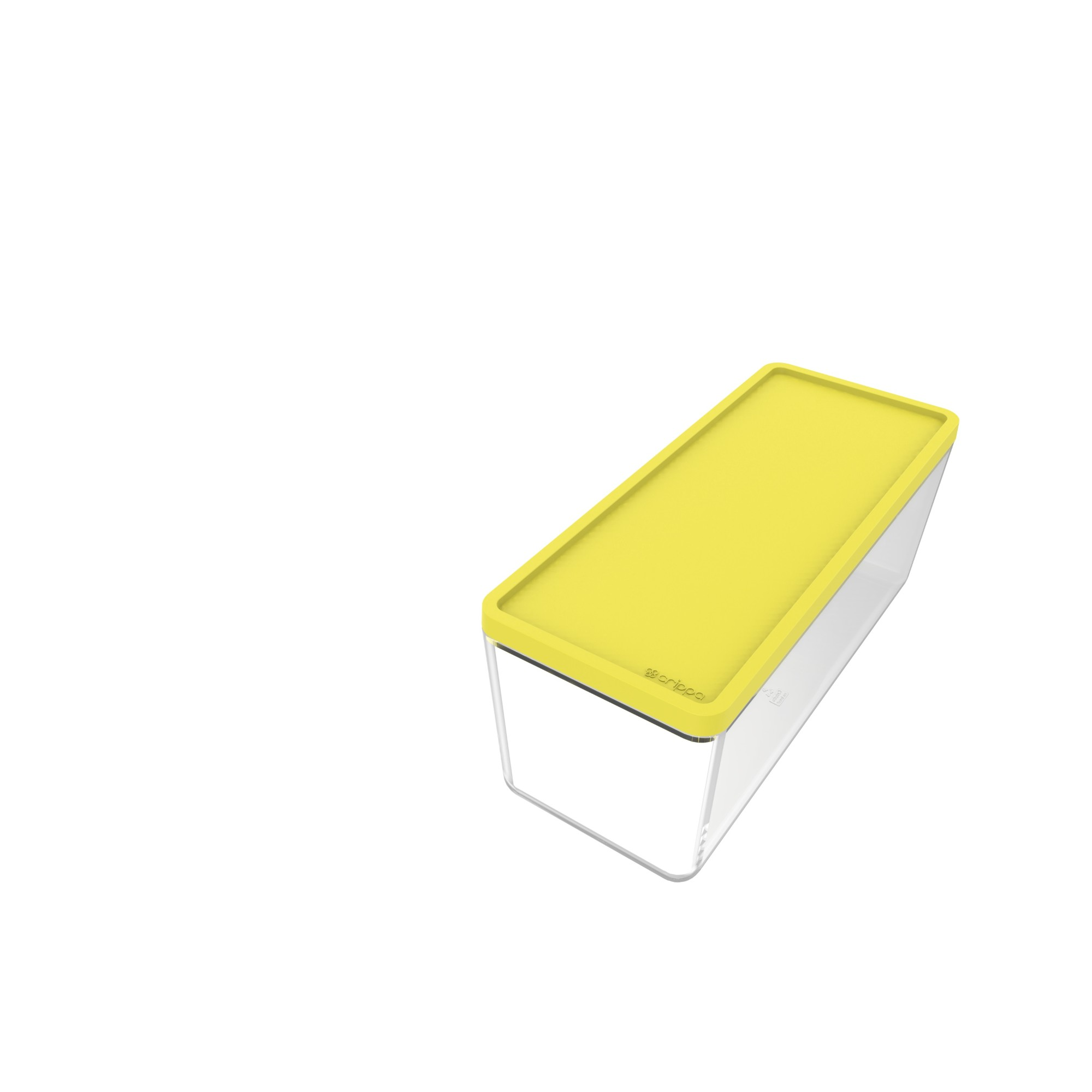 Pote Plastico Hermetico Retangular 750ml Amarelo - Crippa