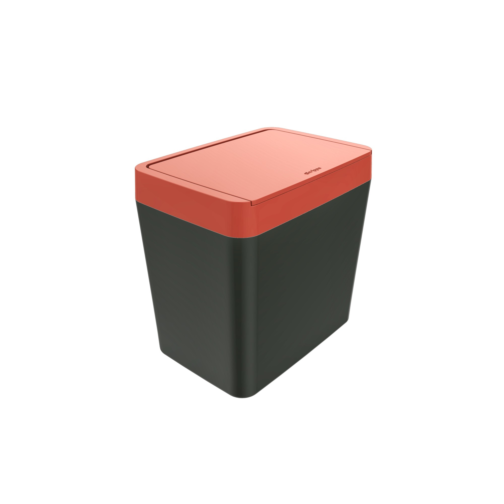 Lixeira com Tampa Manual Retangular Plastico 50L Vermelha 40503034 - Crippa