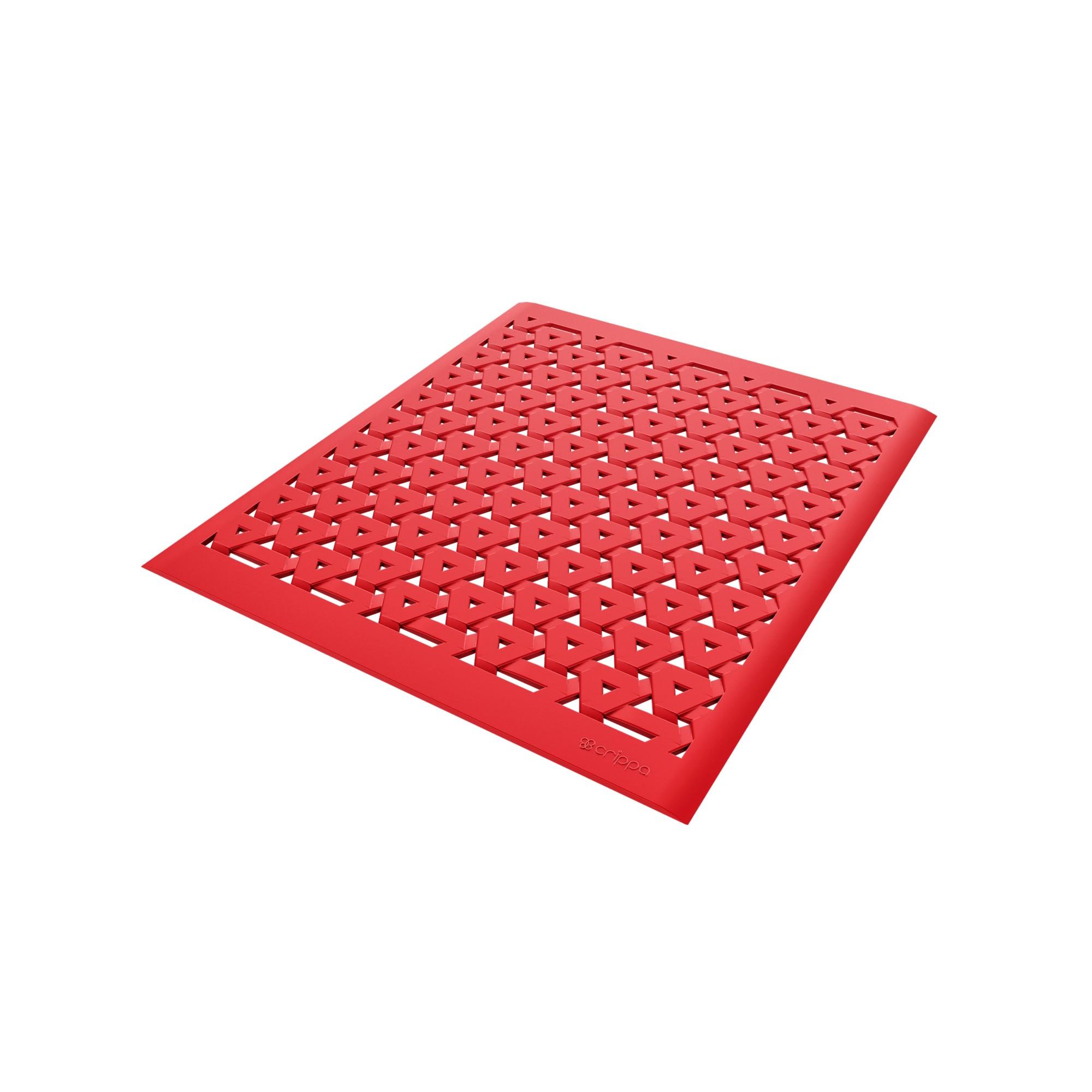 Tapete para Pia Plastico e EVA 279x328cm Vermelho - Crippa