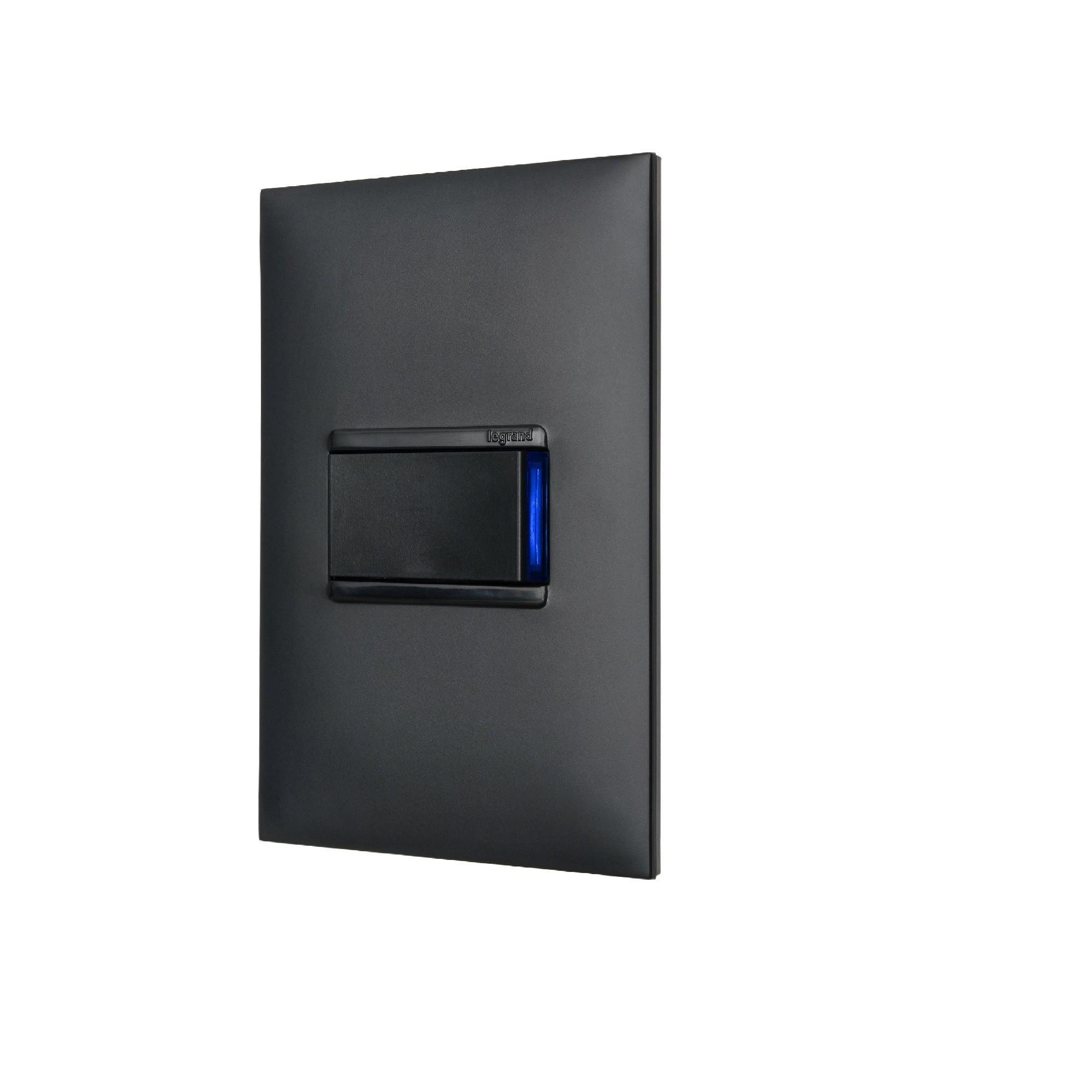 Modulo Interruptor Simples Alavanca 1 Modulo 10A - Preto - Pial Plus - Preto - Legrand