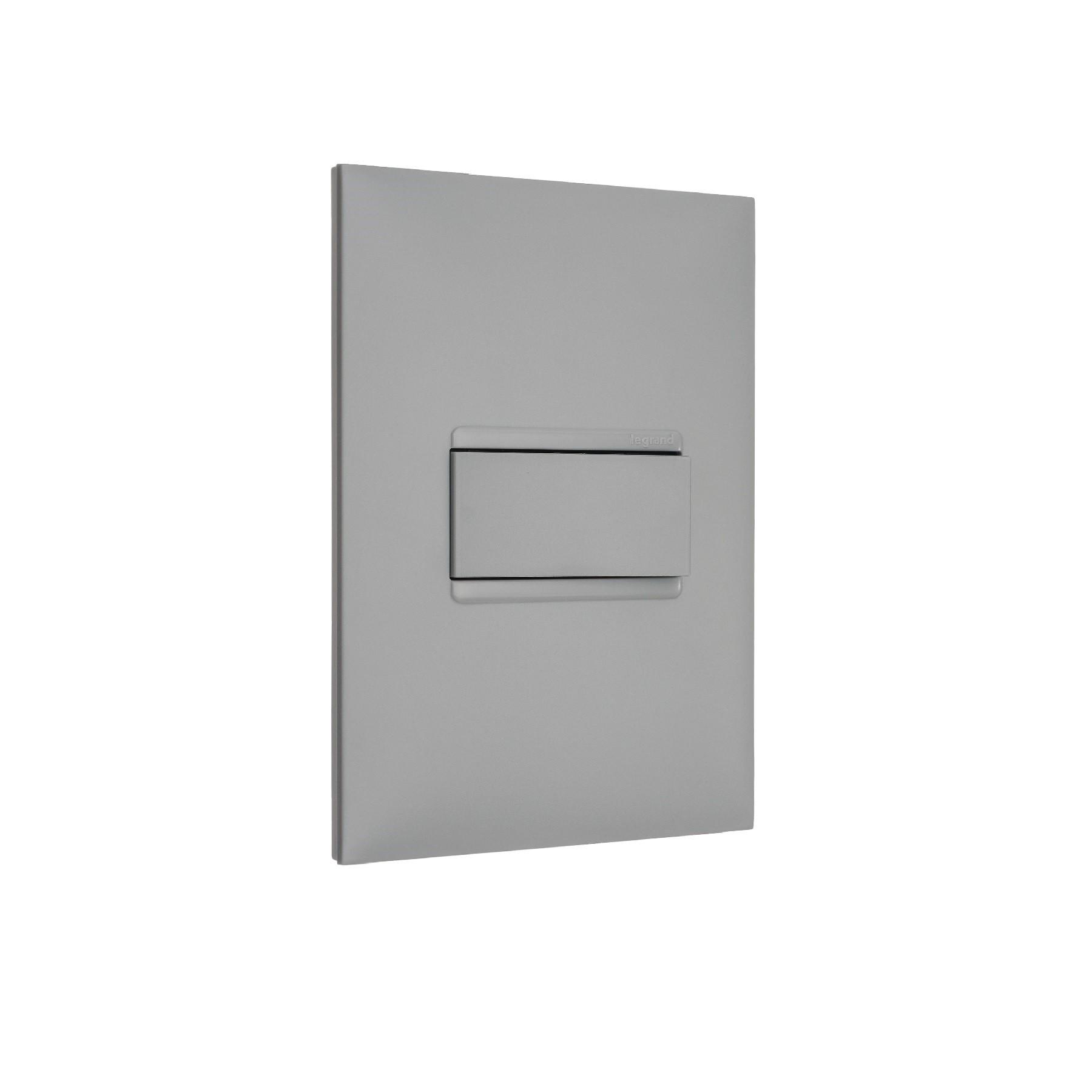 Modulo Interruptor Simples Alavanca 1 Modulo 10A - Cinza - Pial Plus - Legrand