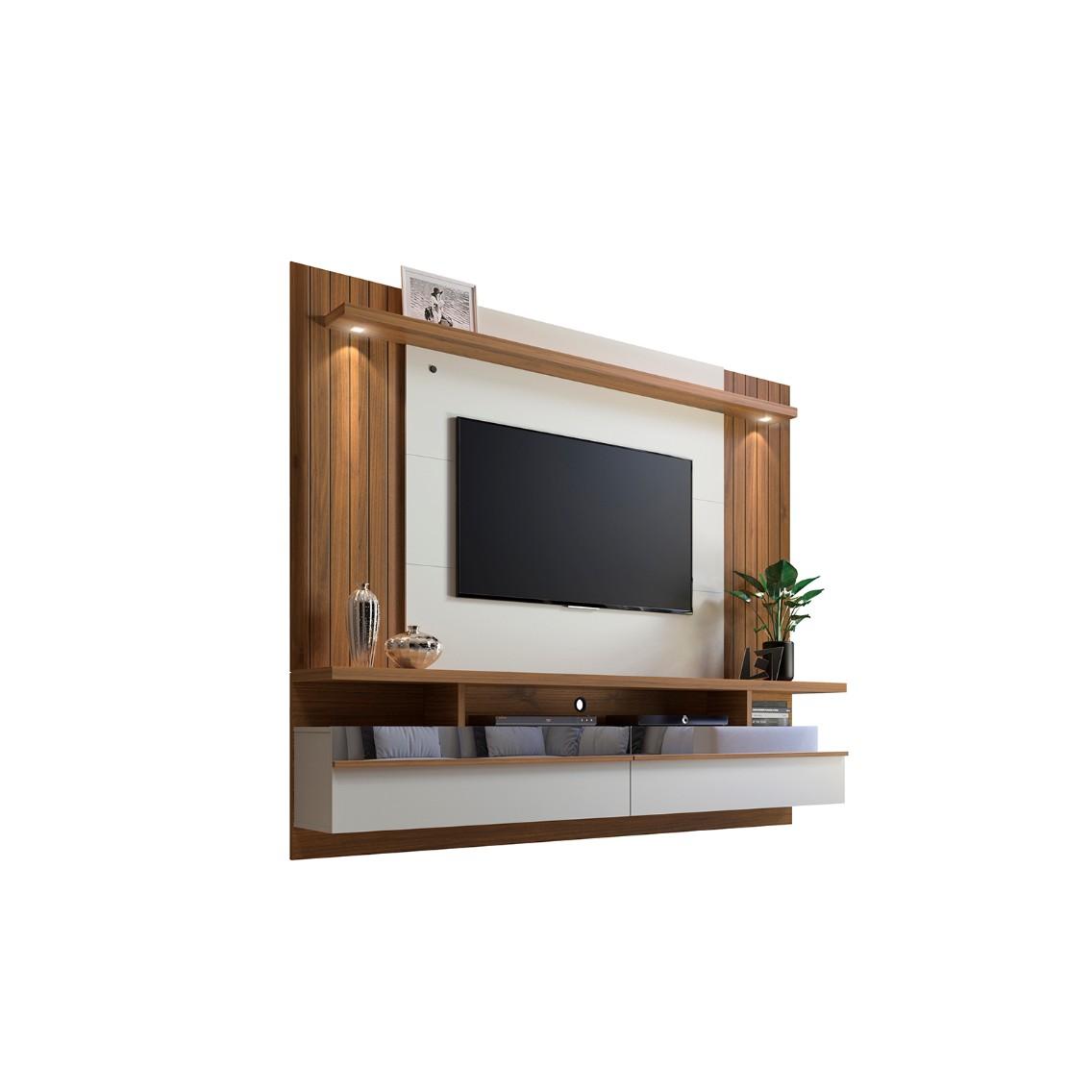 Painel para TV Sao Luis 33cm x 185cm Off white - Linea Mo