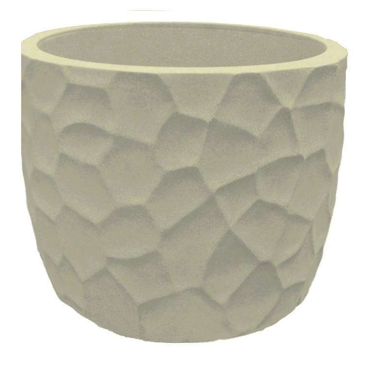 Vaso para Plantas Polietileno 28x335 cm Cinza JVEPC33 - Japi