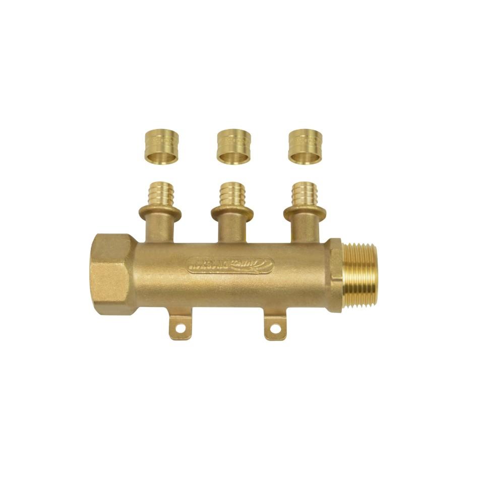 Modulo de Distribuicao Pex para Tubo 20x1 Metal 98709 - Amanco
