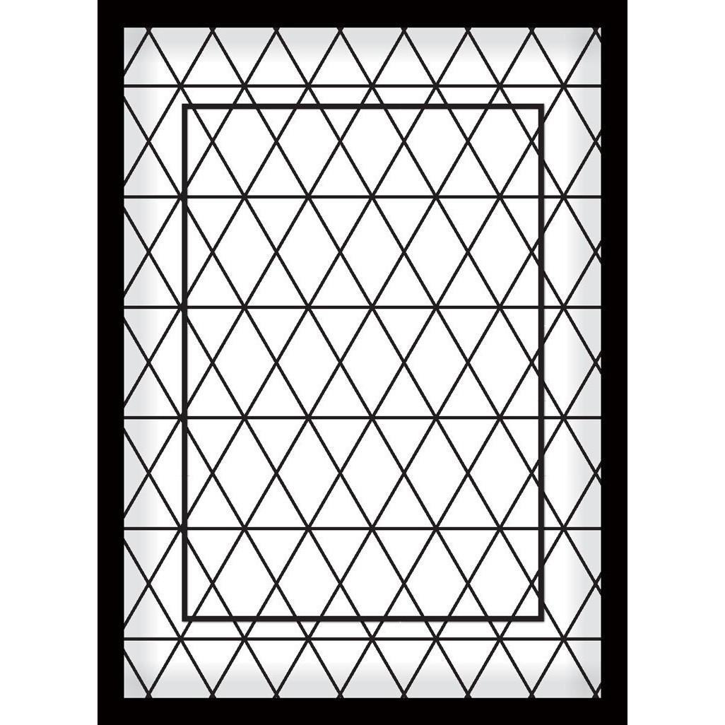 Quadro Decorativo 70x50 cm Geometrico Preto 9021 - Art Frame
