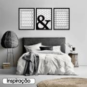 Quadro Decorativo 70x50 cm Geométrico Preto 902/1 - Art Frame