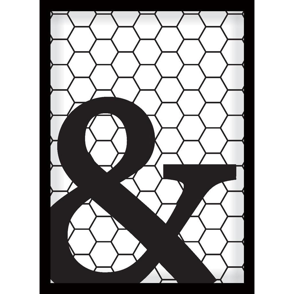 Quadro Decorativo 70x50 cm Geometrico Preto 9022 - Art Frame