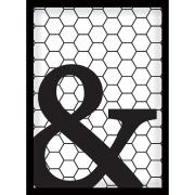 Quadro Decorativo 70x50 cm Geométrico Preto 902/2 - Art Frame