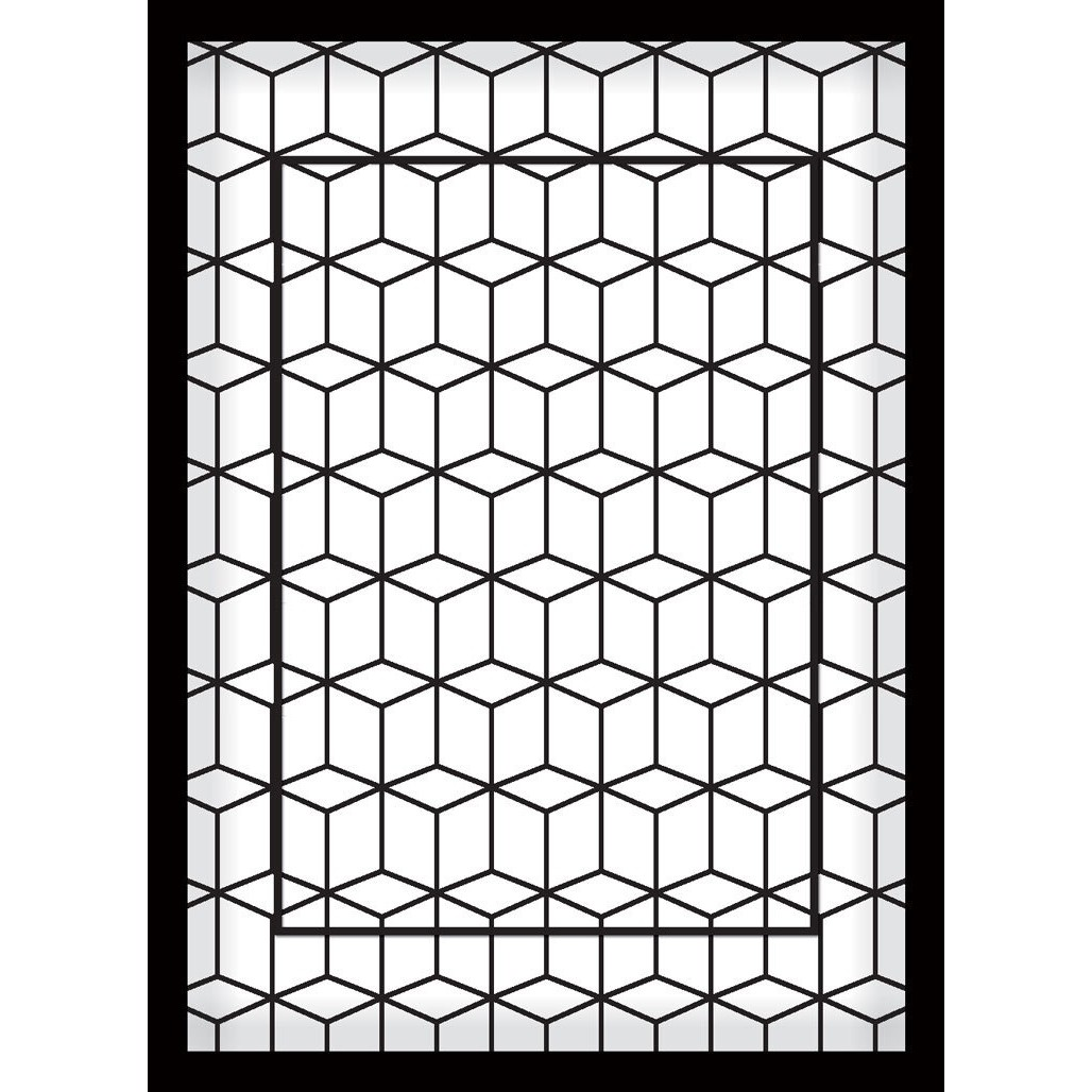 Quadro Decorativo 50x70 cm Geometrico 9023 - Art Frame