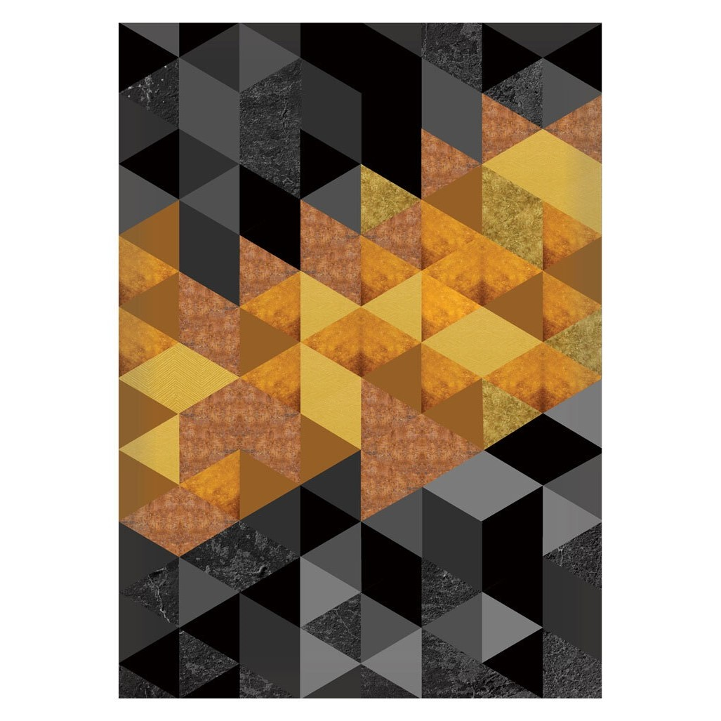Quadro Decorativo 50x70 cm Geometrico Laranja 9024 - Art Frame