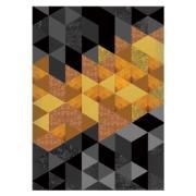 Quadro Decorativo 50x70 cm Geométrico Laranja 902/4 - Art Frame