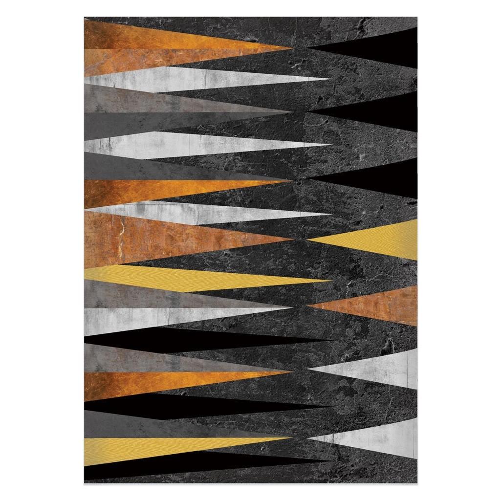 Quadro Decorativo 50x70 cm Geometrico Laranja 9025 - Art Frame