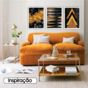 Quadro Decorativo 50x70 cm Geométrico Laranja 902/5 - Art Frame
