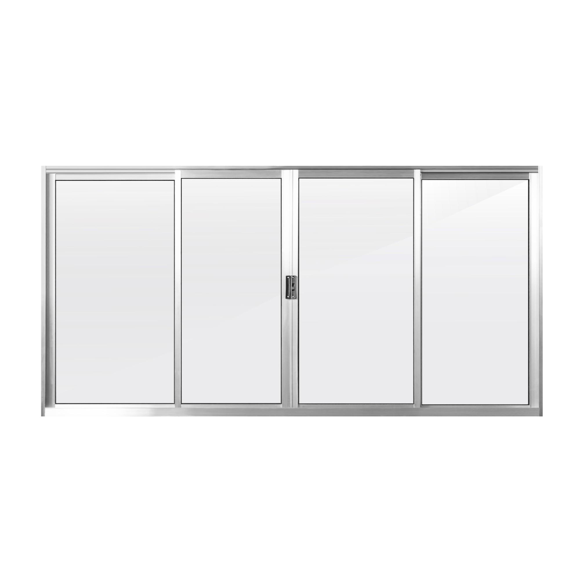 Janela de Correr de Aluminio 4 Folhas 100x200 - 312854 - Aluvid