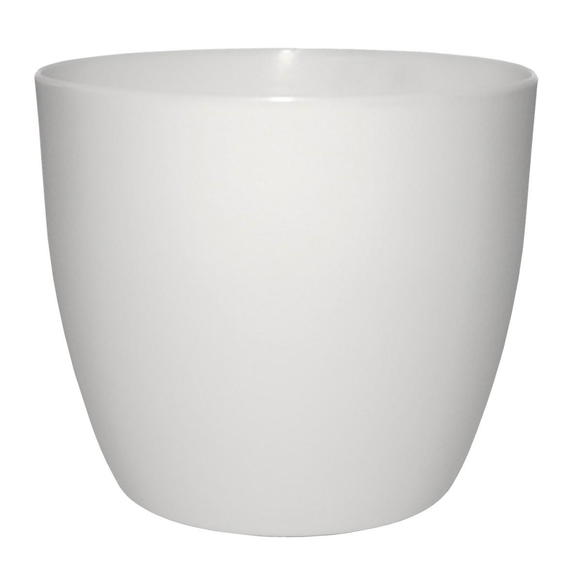 Vaso para Plantas Plastico 15cm Musique Branco VPMRR15 - Japi