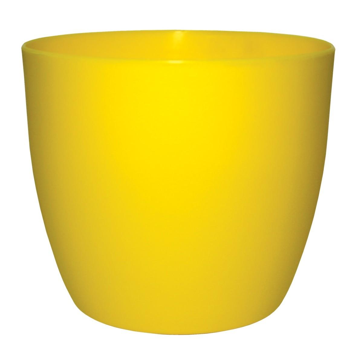 Vaso para Plantas Amarelo Redondo 15 cm Musique Plastico - Japi