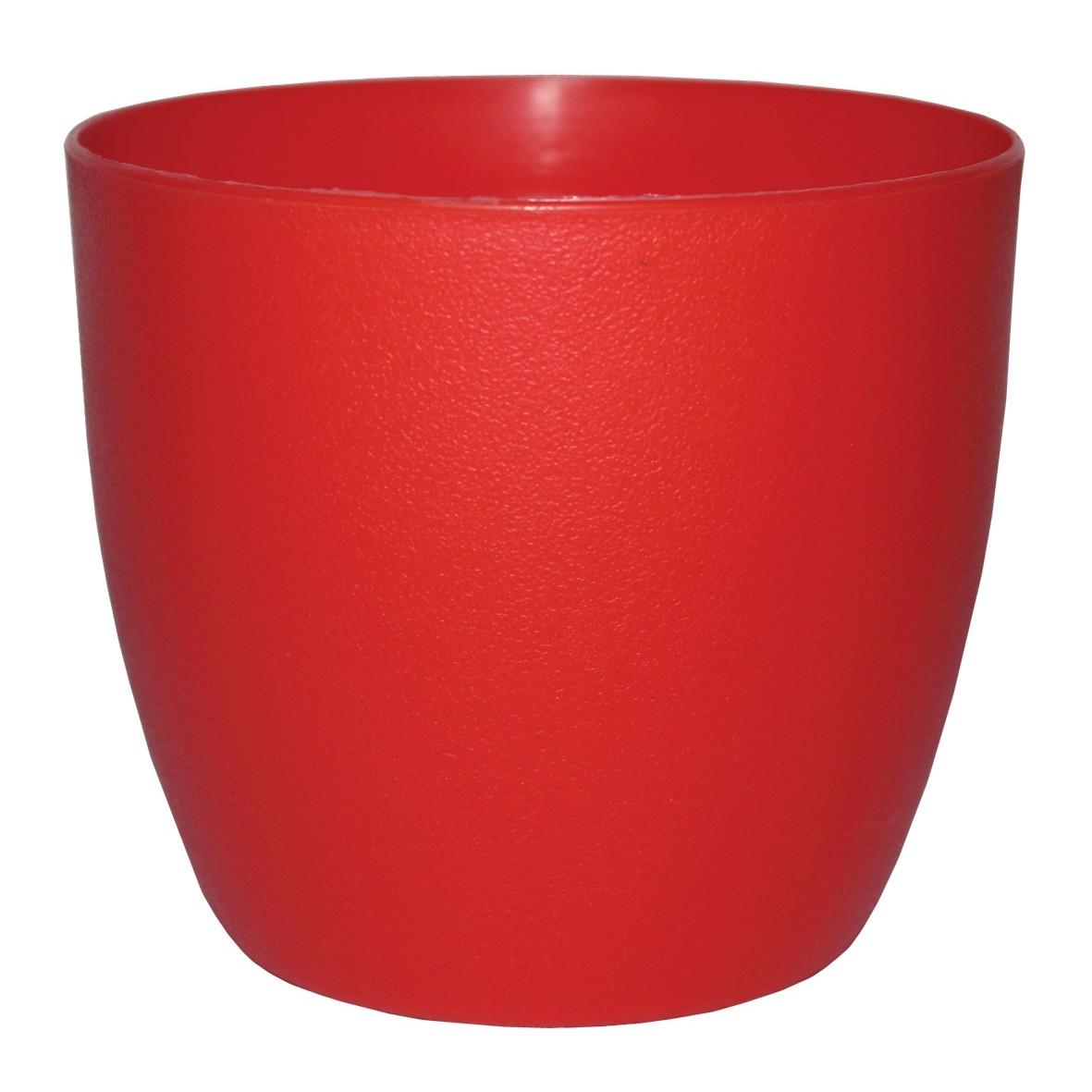 Vaso para Plantas Plastico 12cm Musique Vermelho VPMRR11 - Japi