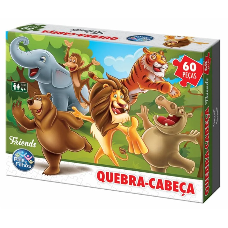 Jogo Quebra-Cabeca Friends 60 pecas - Pais e Filhos