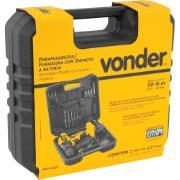"""Furadeira e Parafusadeira a Bateria 12V 3/8"""" com Impacto PFV012I - Vonder"""