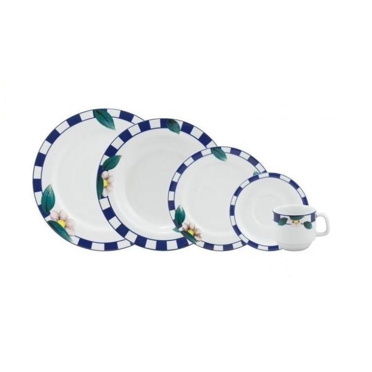Aparelho de Jantar de Porcelana 20 Pecas Branco 05789 - Schmidt