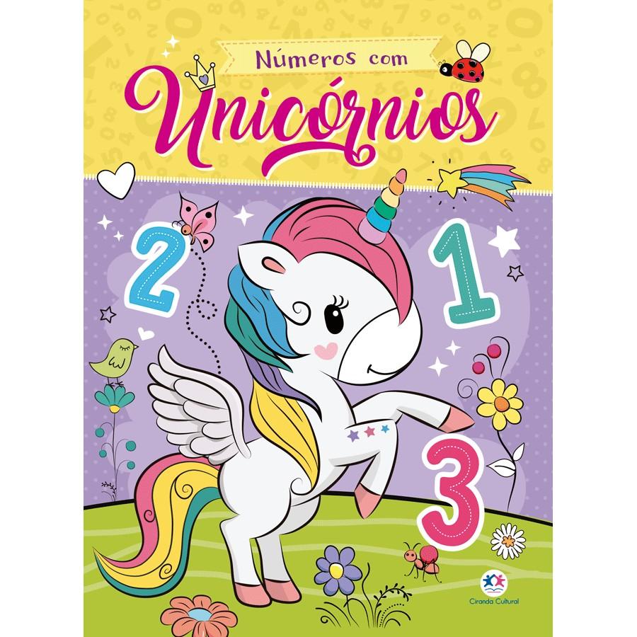 Livro Numeros com Unicornios - Ciranda Cultural