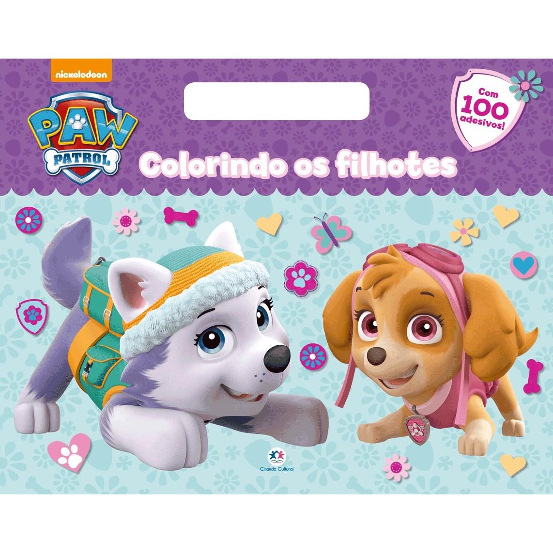 Livro Patrulha Canina Colorindo com Filhotes - Ciranda Cultural
