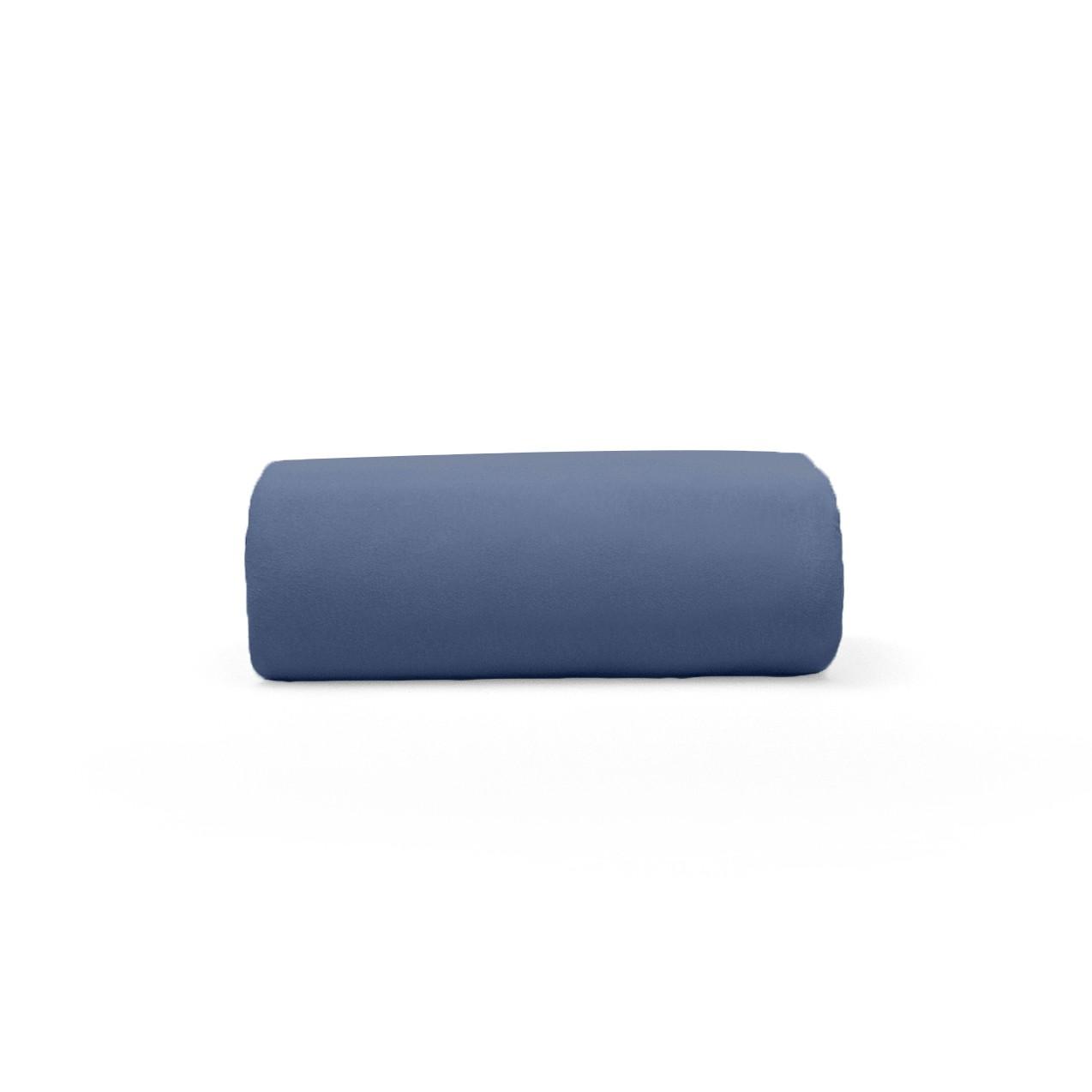 Lencol Malha Queen Art Premium com Elastico 100 algodao Azul Marinho - Buettner