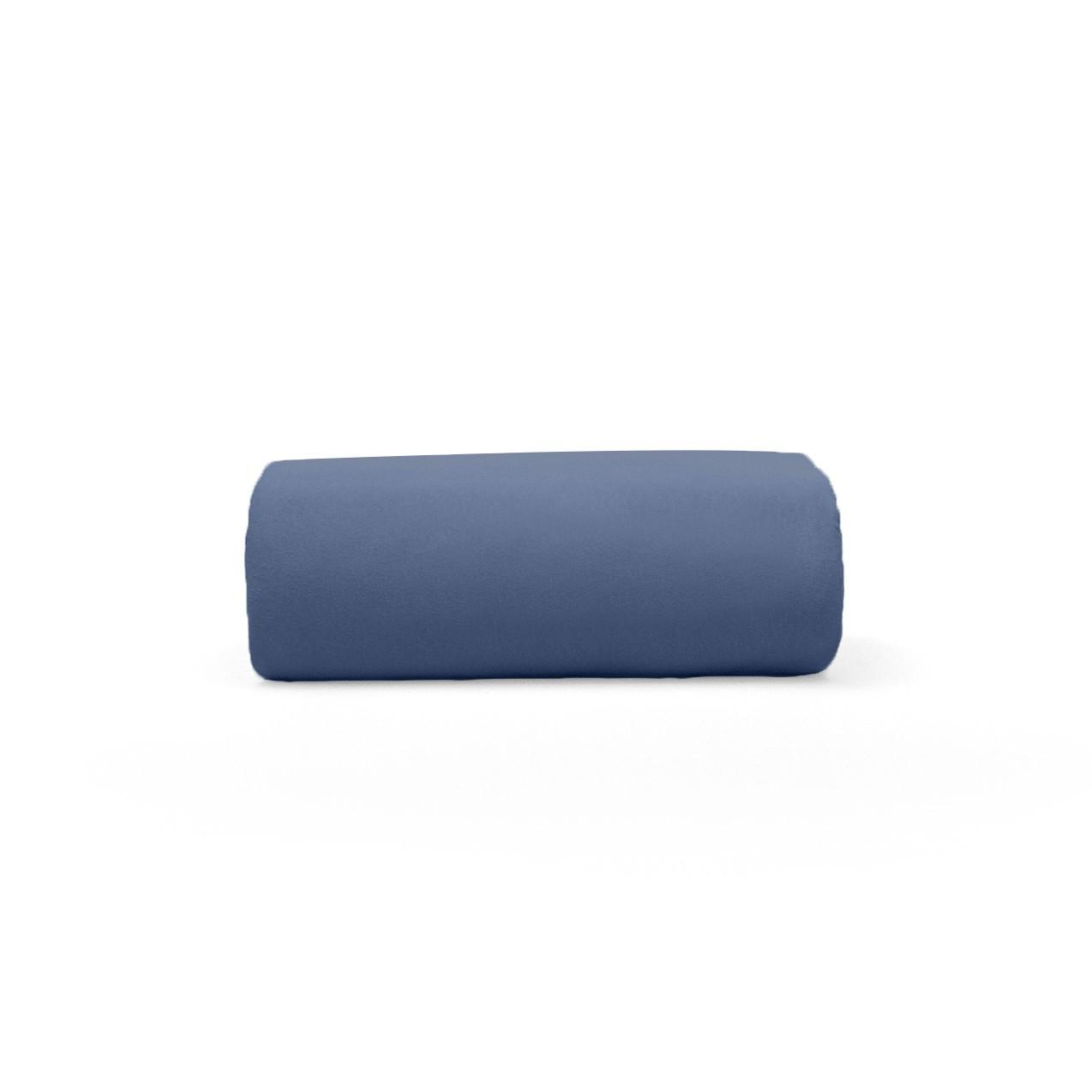 Lencol Malha Casal Art Premium com Elastico 100 algodao Azul Marinho - Buettner