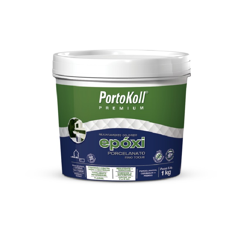 Rejunte Epoxi Porcelanato Preto Caixa 1kg - PortoKoll