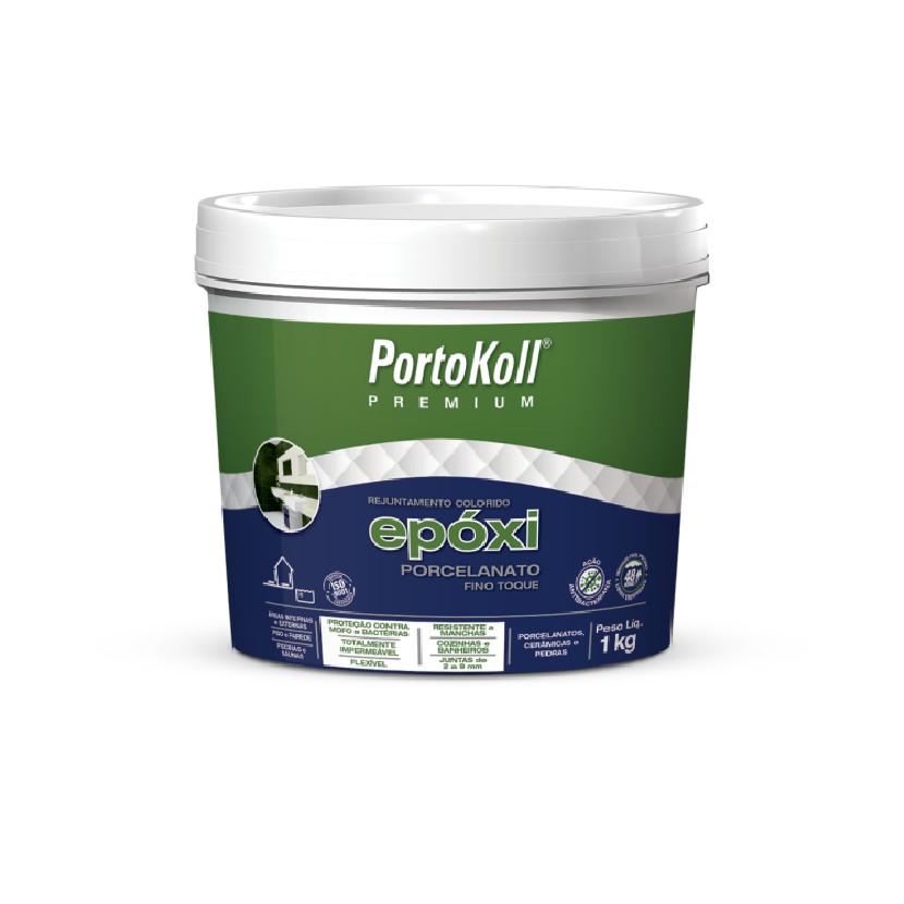 Rejunte Epoxi Porcelanato Cinza Caixa 1kg - PortoKoll