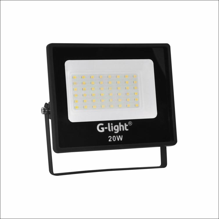 Refletor LED 20W Bivolt Luz Branca - Glight